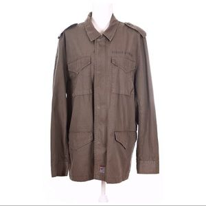 EXPRESS Army Green Cargo Jacket Size L